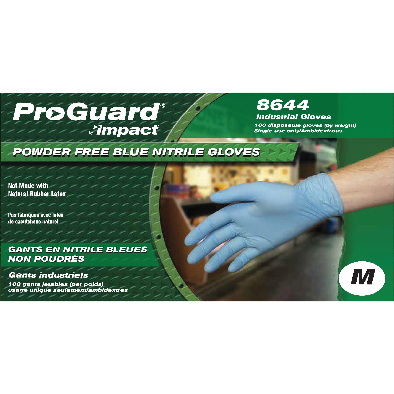 ProGuard PF Nitrile General Purpose Gloves - Blue - Medium - 100/BX