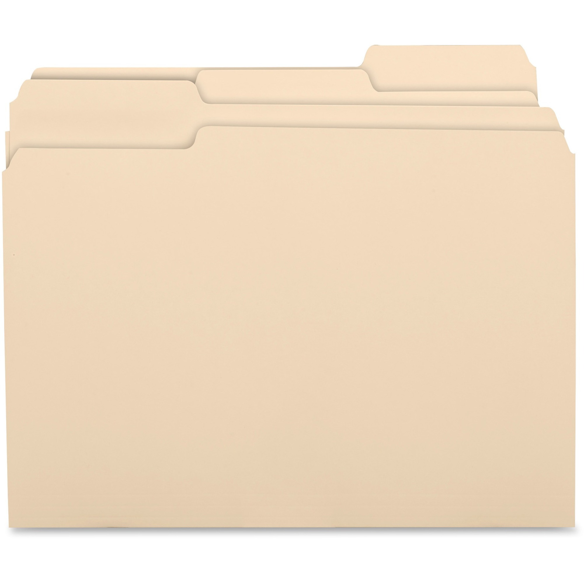 Business Source 1/3 Tab Cut Letter Recycled Top Tab File Folder