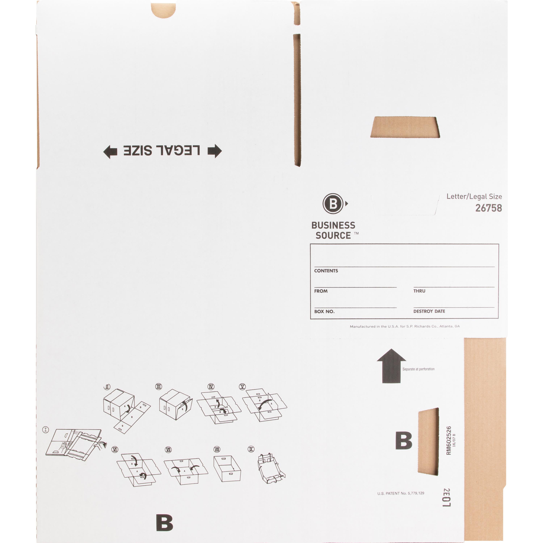 Business Source Lift-off Lid Medium Duty Storage Box