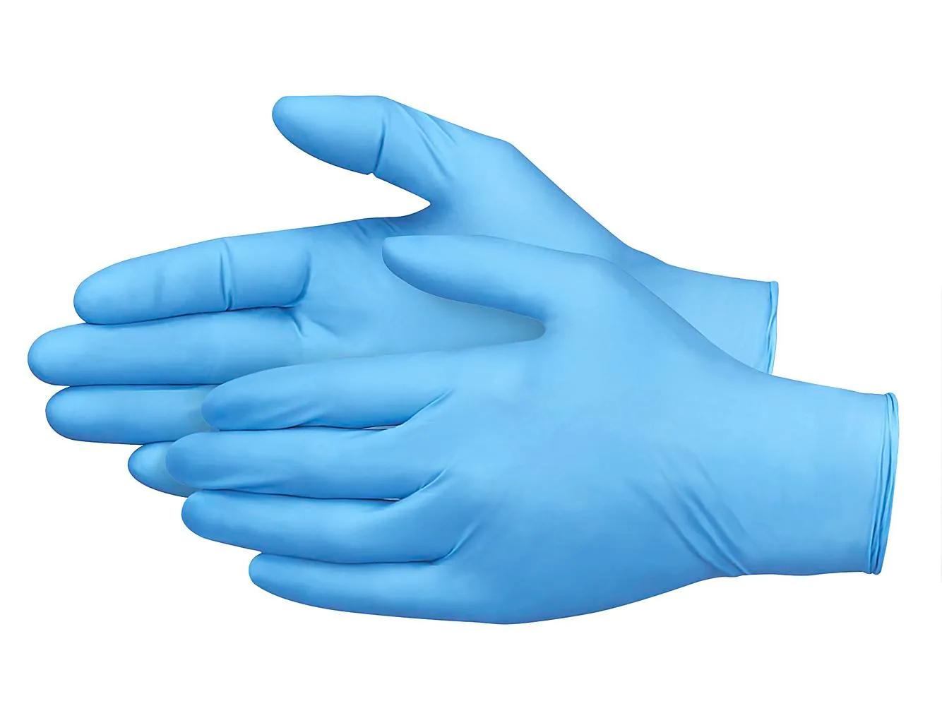 Medium Non-Medical Nitrile Gloves - Blue - Pack of 100