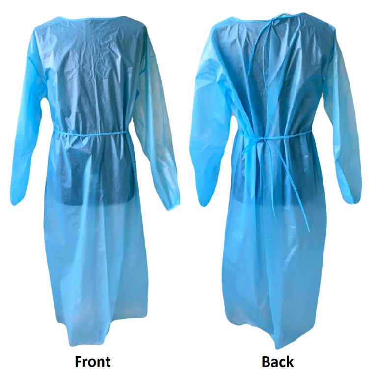 Level 2 - Large Medical Gown - Blue - Pack of 20