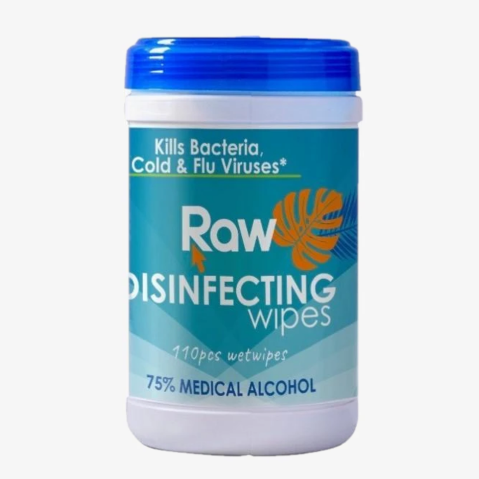 Disinfecting Wipes - Raw Brand - 110 Sheets - Pack of 6